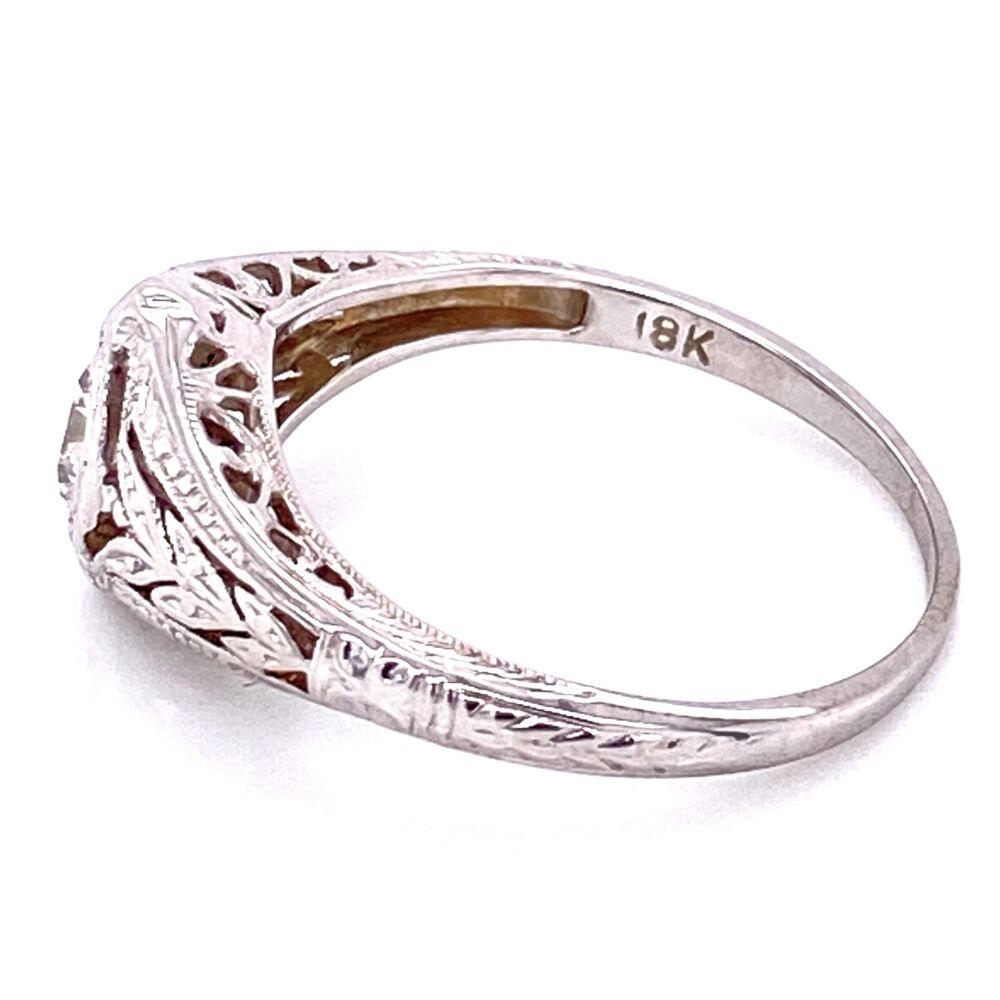 Image 2 for 18K WG Art Deco .40ct OEC Diamond Ring, s7.5