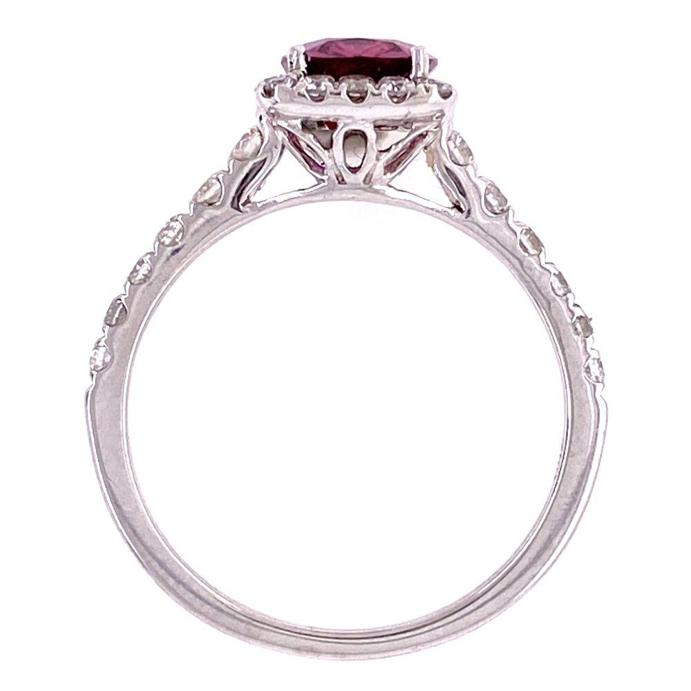 18K WG 1.35 Cushion Ruby & .55tcw Diamond Ring, s7