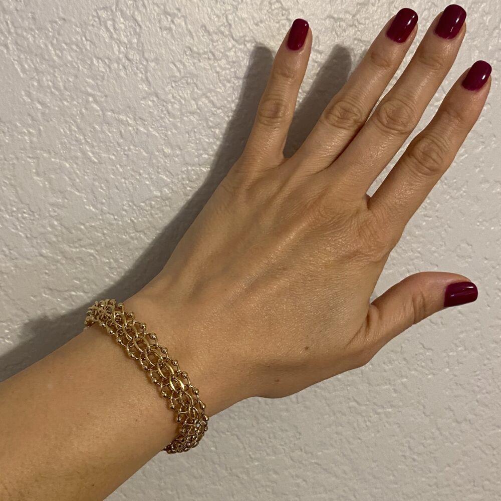 """Image 2 for 14K YG Link Charm Bracelet 24g, 7"""""""