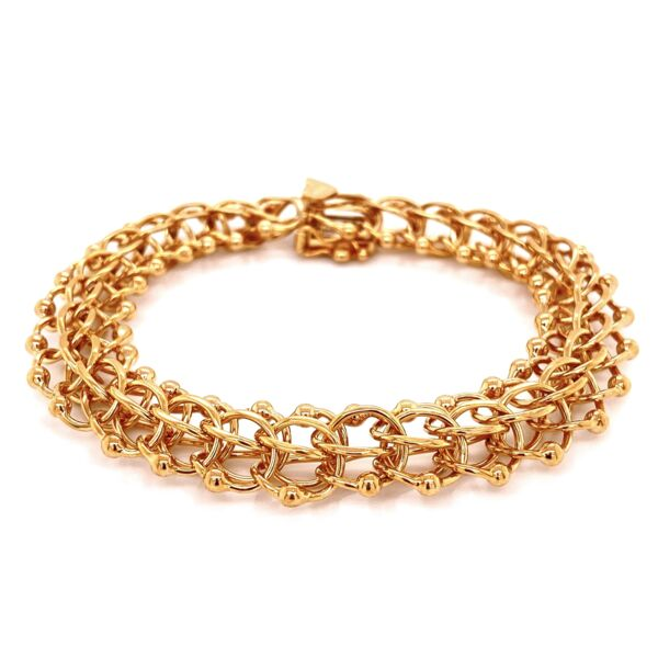 Closeup photo of 14K YG Link Charm Bracelet 24g, 7""