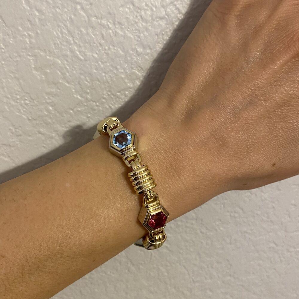 Image 2 for Multi Gemstone Link Bracelet