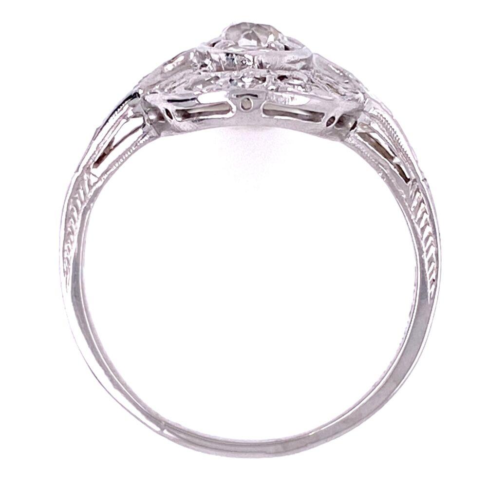Image 2 for Platinum Art Deco Filigree Cluster Ring 1.00tcw Diamonds, s7