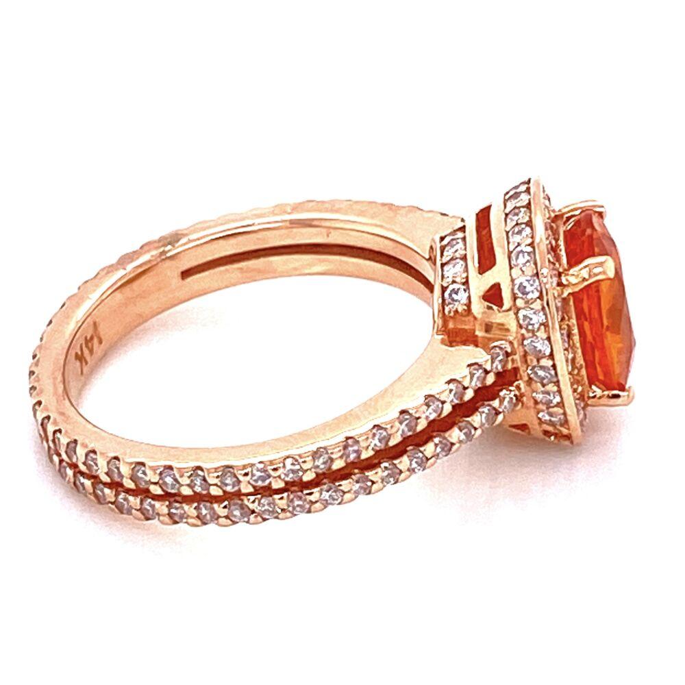Image 2 for 14K Rose Gold 1.65ct Spessartite Garnet & .55tcw Diamond Ring, s4.5