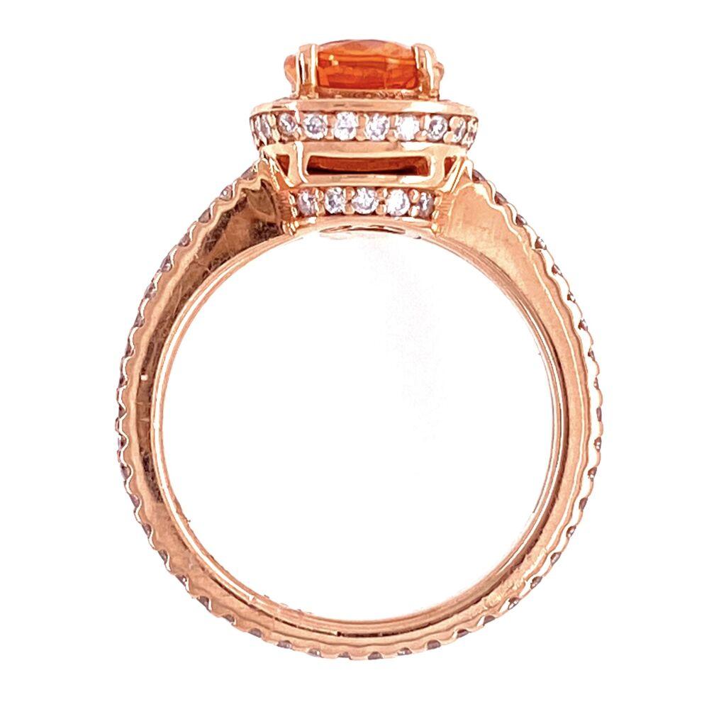 14K Rose Gold 1.65ct Spessartite Garnet & .55tcw Diamond Ring, s4.5