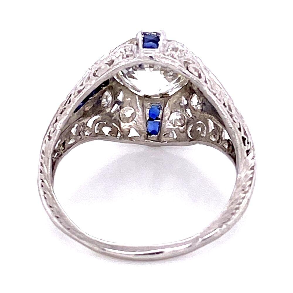 Platinum Art Deco 2.22ct GIA H-VS1 OEC & .22tcw Diamond Ring, s6.5