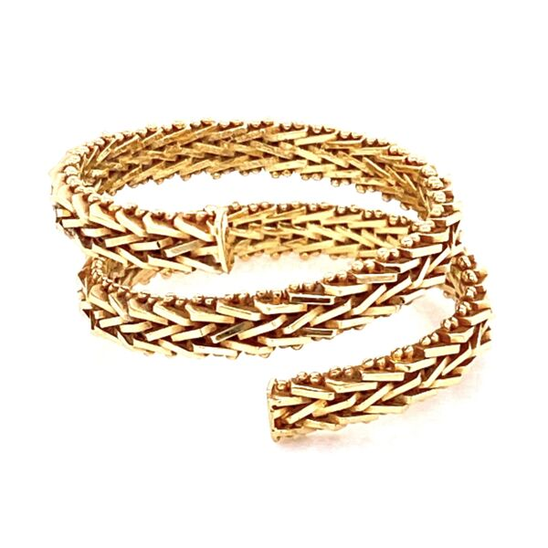 Closeup photo of 14K YG Wrap around Weave Ring 6.15g, s8