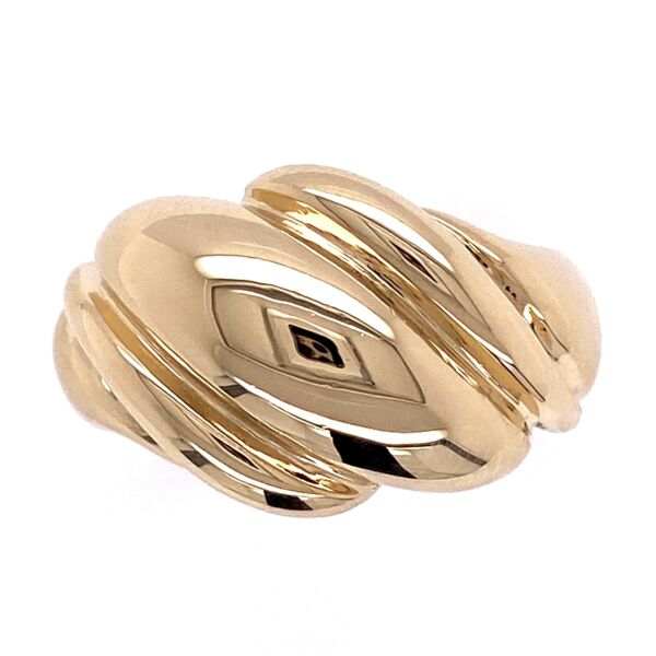 Closeup photo of 14K YG Dome Wave Gold Ring 6.3g, s