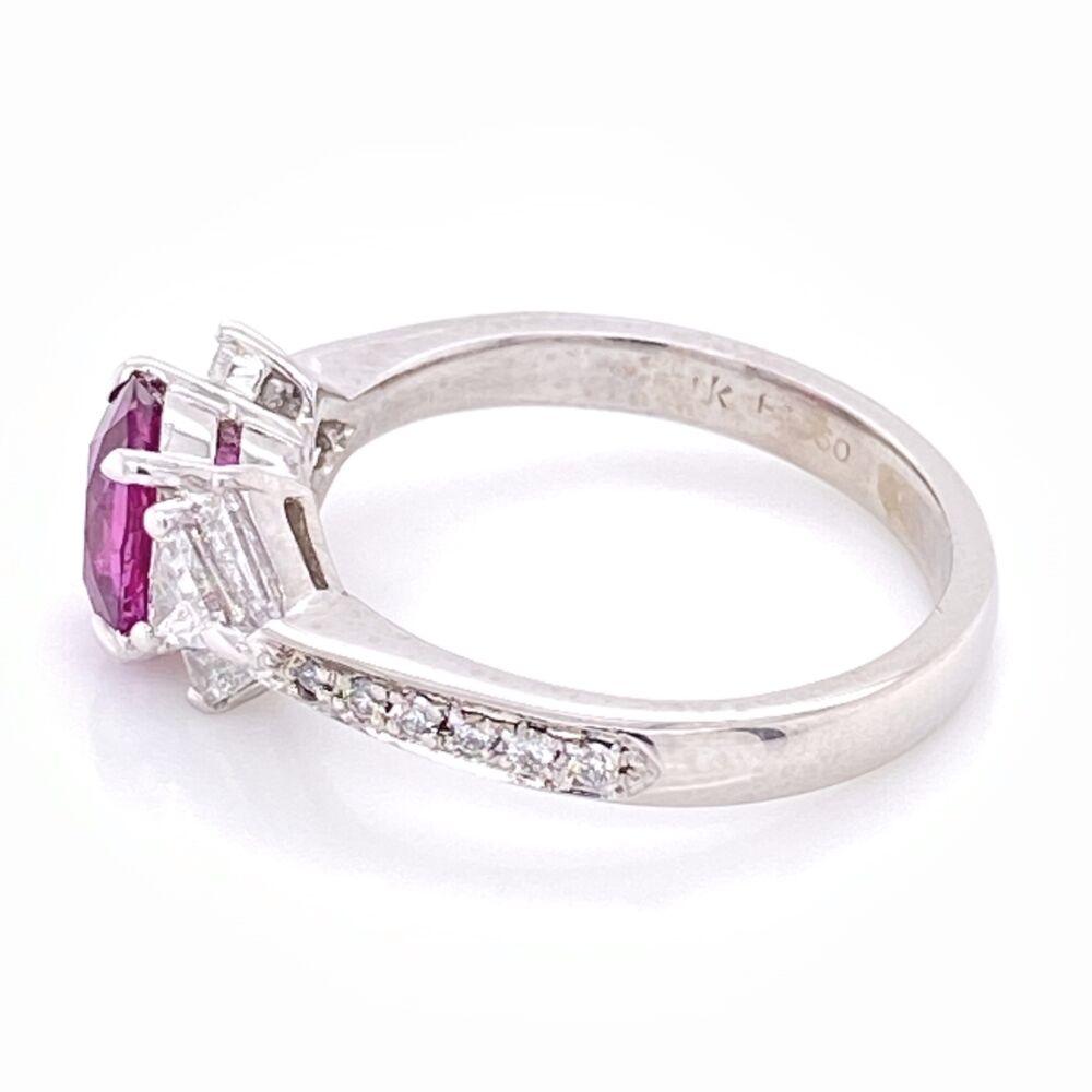 Platinum SPARK Pink Sapphire and Fancy Diamond Ring. s6.5