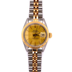 Closeup photo of Ladies Rolex 69173 26m 2tone 18K Stainless Steel Watch 2020 Service!