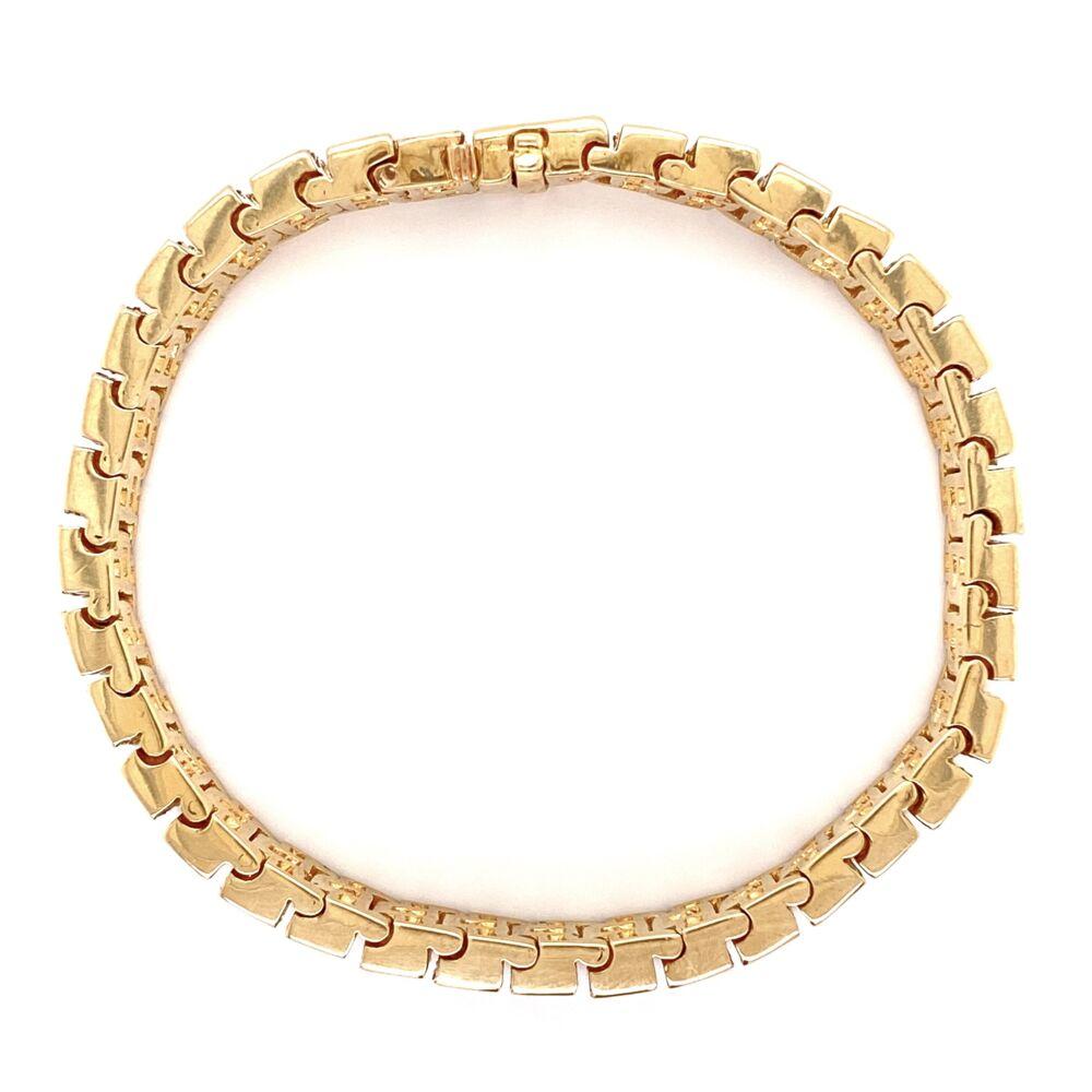 """Image 2 for 14K YG 3 row 9.00tcw Diamond Bracelet 47.1g, 7"""""""