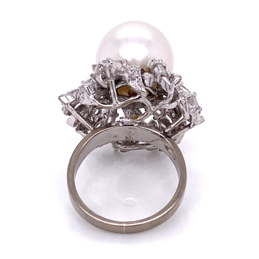 Image 2 for 18K WG 12mm South Sea Pearl & 2.45tcw Diamond Ring 12.7g, s