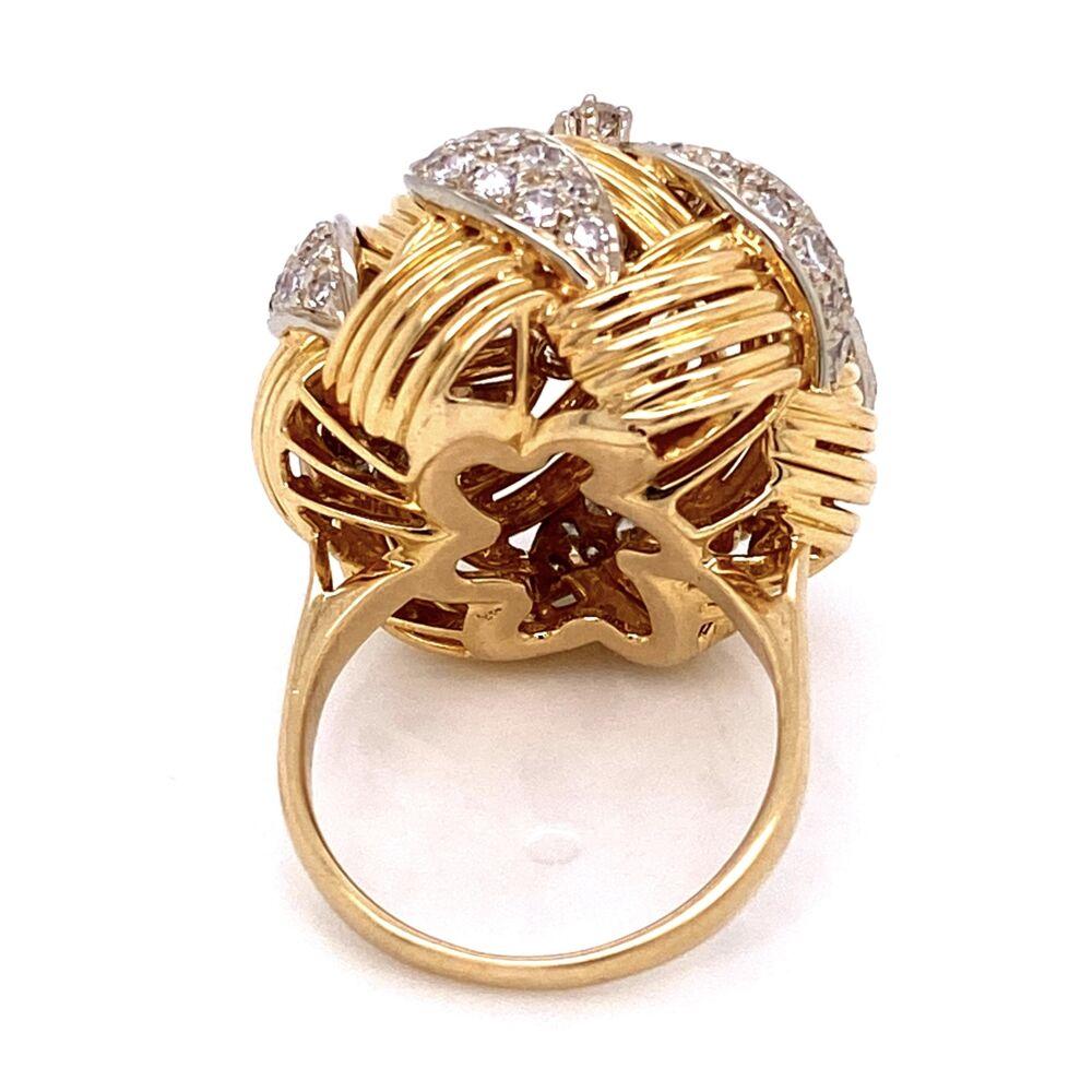 18K WG Large Dome Diamond Ring 2.65tcw 14.6g, s
