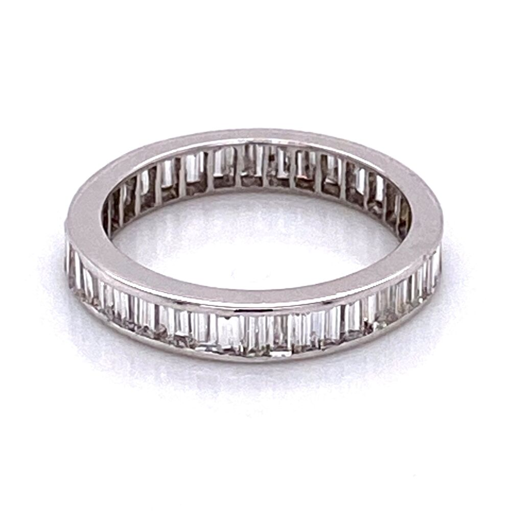 Image 2 for 14K WG Baguette Diamond Eternity Band 1.40tcw 1.7g, s5.25