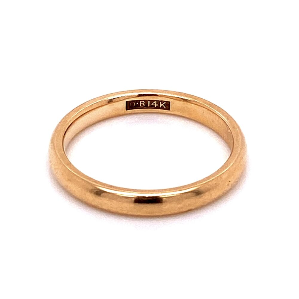14K YG Classic Solid Stackable Band Ring 3.4g, s