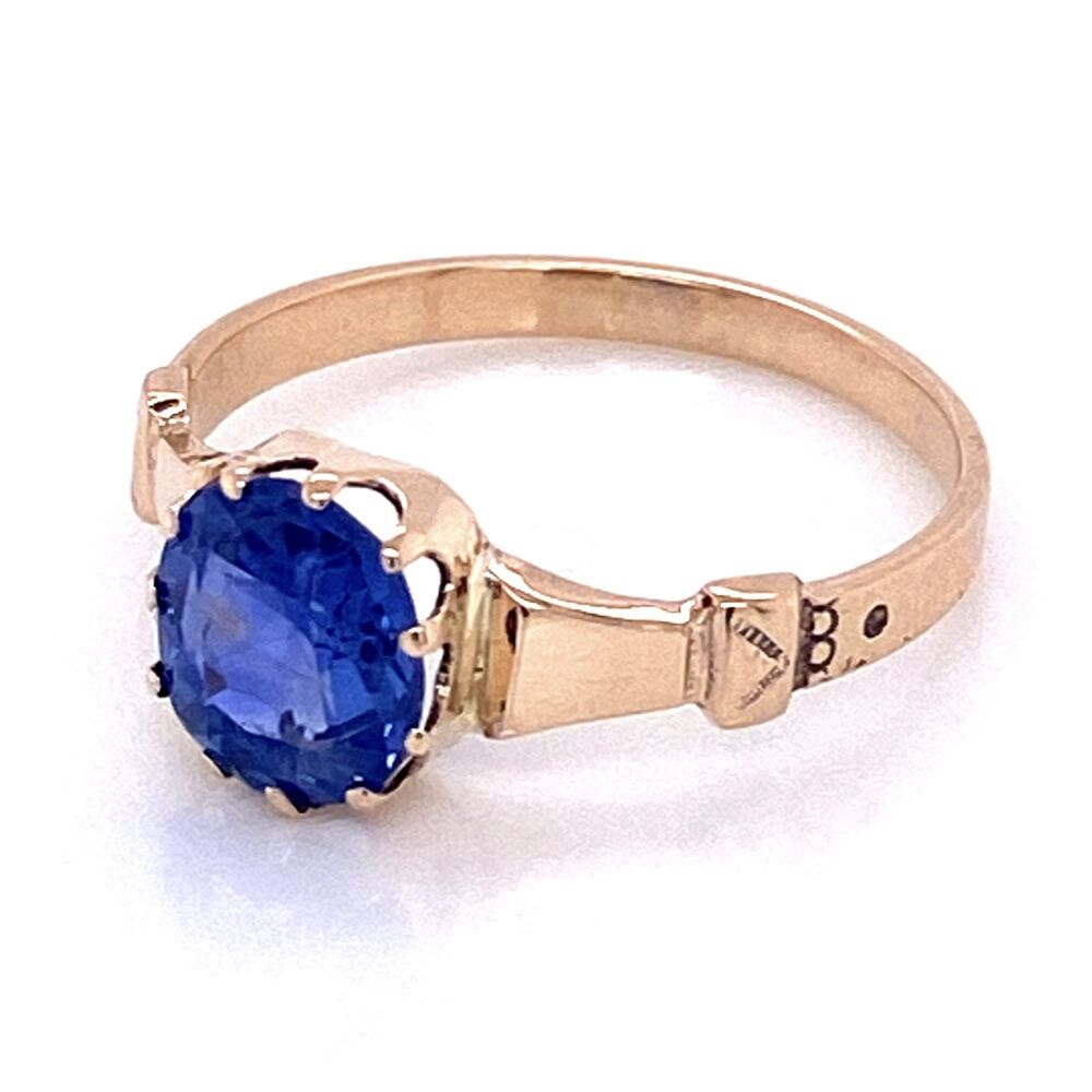 Image 2 for 9K Victorian 1.51ct NO HEAT Sapphire Ring