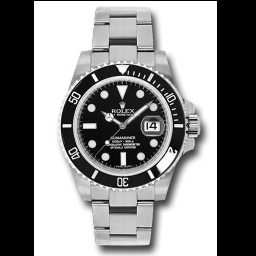 Closeup photo of Rolex 116610LN Submariner Steel Watch