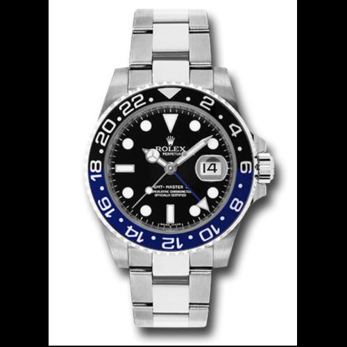 Closeup photo of Rolex 116710BLNR BATMAN GMT-Master II Steel Watch