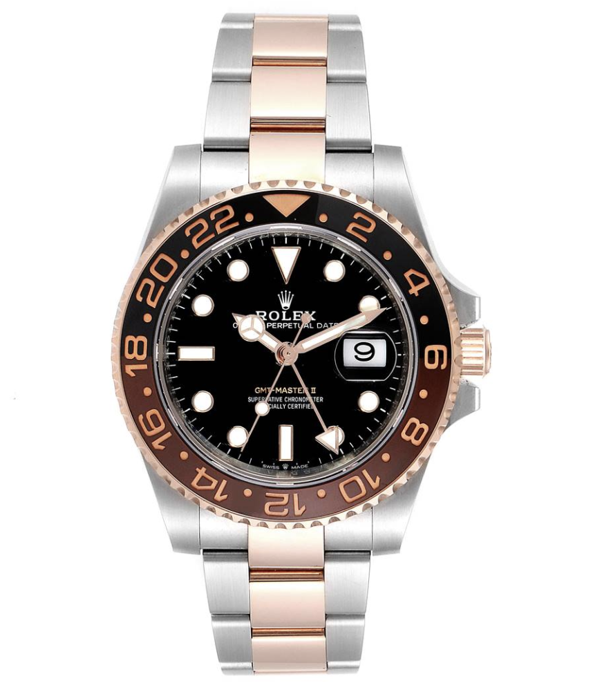 Image 2 for Rolex GMT Master II ROOTBEER Steel Everose Gold Mens Watch