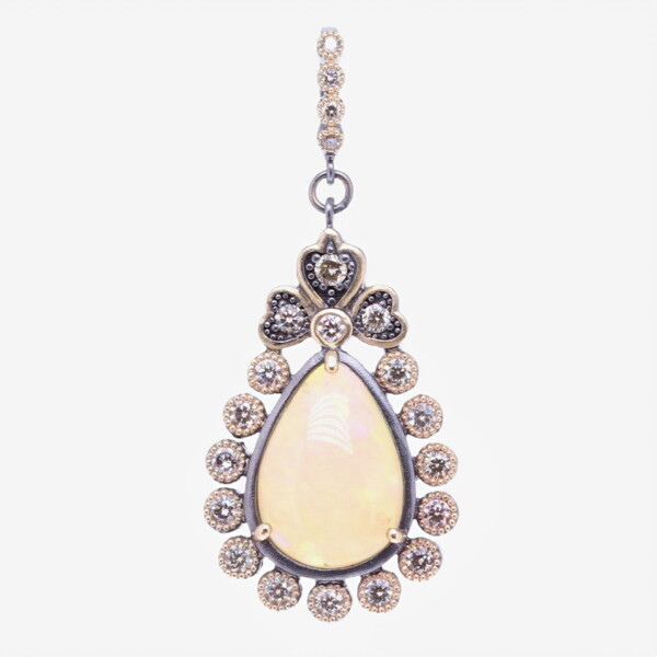 Closeup photo of Cynthia Ann Jewels Pear Shaped Opal Pendant