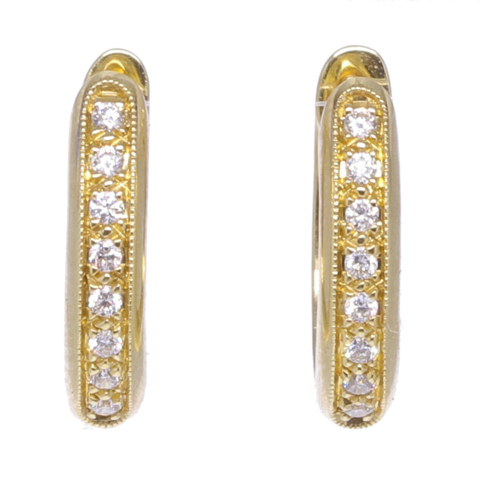 Yellow Gold Huggie Earrings