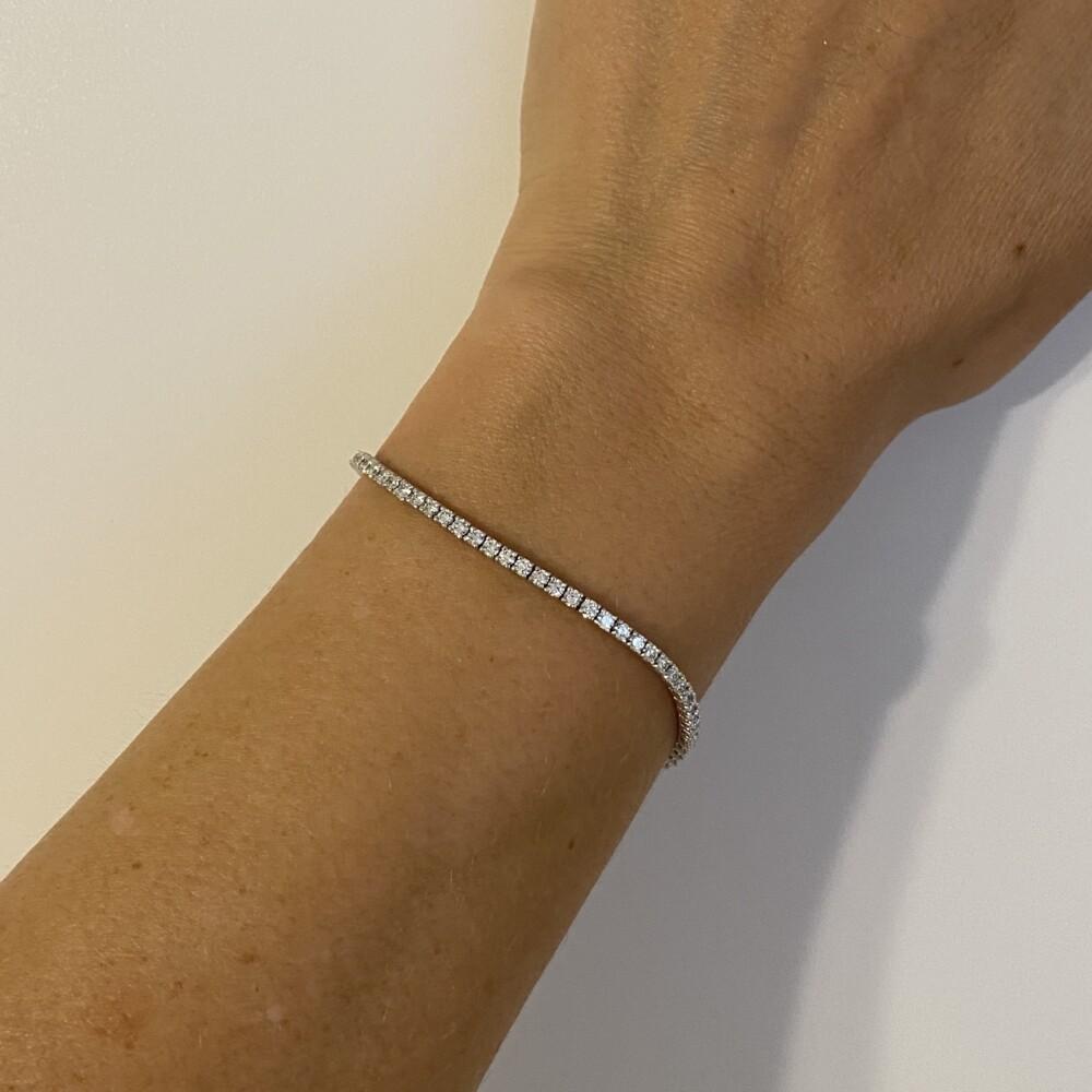 "Image 2 for 14K WG Straight Line Diamond Tennis Bracelet 2.67tcw, 7"""