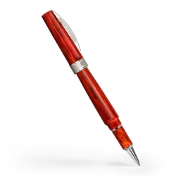 Closeup photo of Visconti Mirage Rollerball Pen - Coral Red