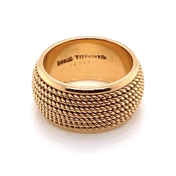 Closeup photo of 14K Yellow Gold TIFFANY & CO Rope Wrapped Band 12.8g, s5.75