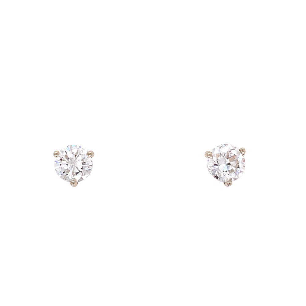1.05tcw Round Brilliant Diamond Studs G/H-SI2