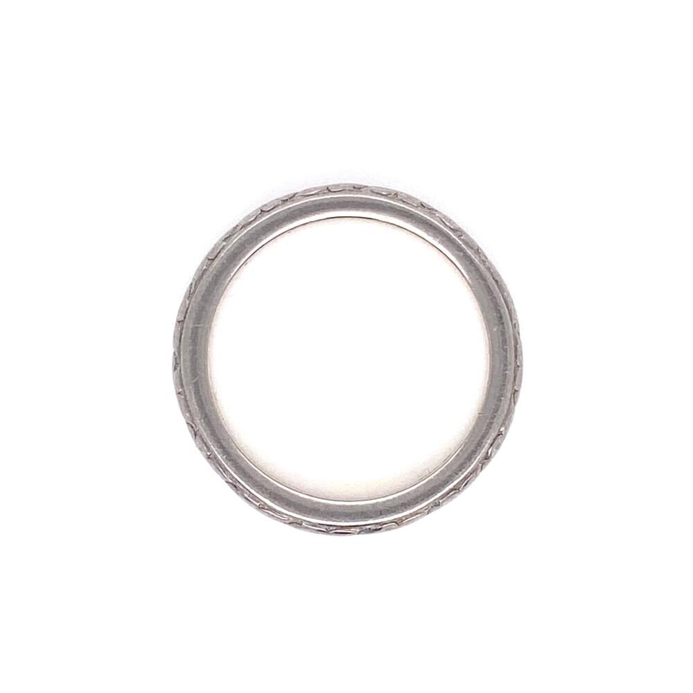 Platinum on 20K Gold Art Deco Engraved Band Ring 3.1g, s4.75