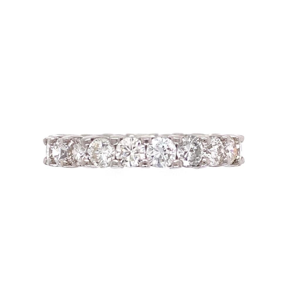 Image 2 for Platinum 3.07tcw Round Brilliant Diamond Eternity Band Ring 5.2g, s6.75+