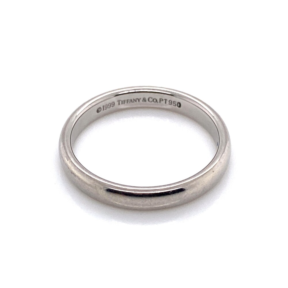 Image 2 for Platinum 950 Tiffany & Co. Solid Engagement/Wedding Band Ring 4.8g, s6.5