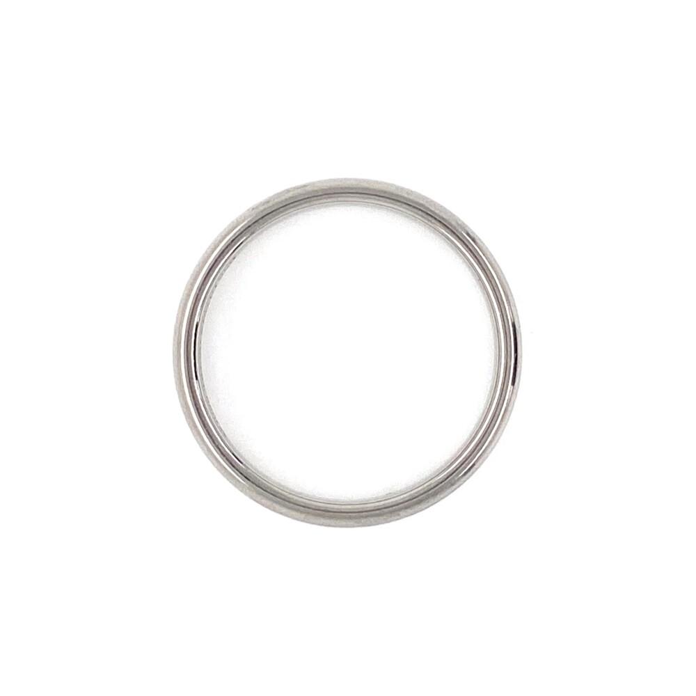 Platinum 950 Tiffany & Co. Solid Engagement/Wedding Band Ring 4.8g, s6.5