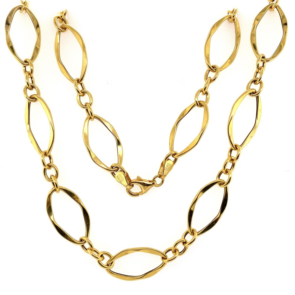 Image 2 for 14K YG MILOR Italy Open Link Necklace 6.1g, 23""