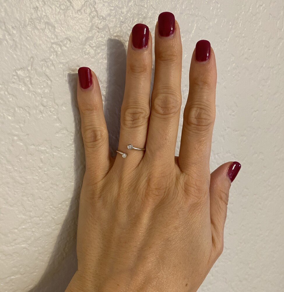 Image 2 for 18K WG Open Split Bypass .06tcw Diamond Ring 2.0g, s7.25