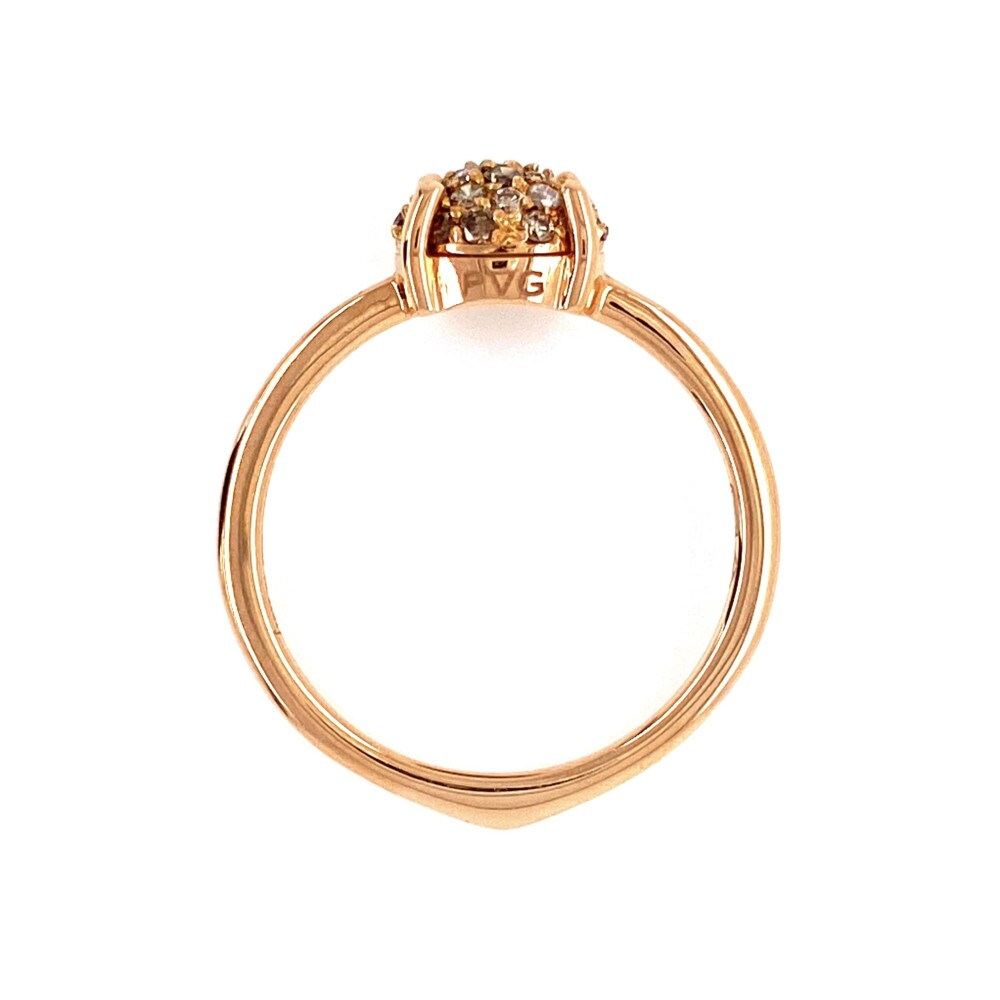 Image 2 for 18K RG Champagne Cluster .38tcw Diamond Ring 2.5g, s7.75