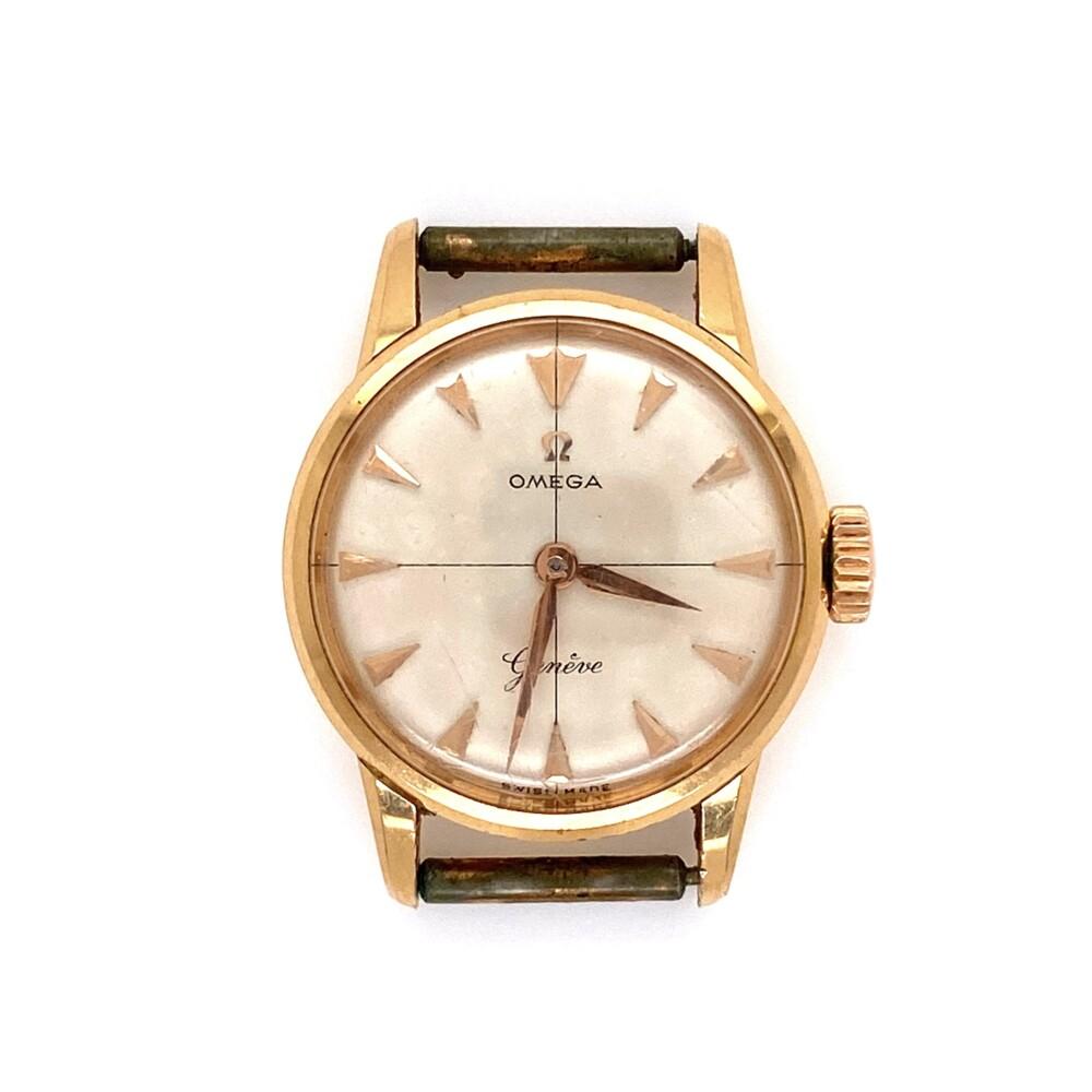 18K YG OMEGA 21mm 1940's Watch Head 11.5g