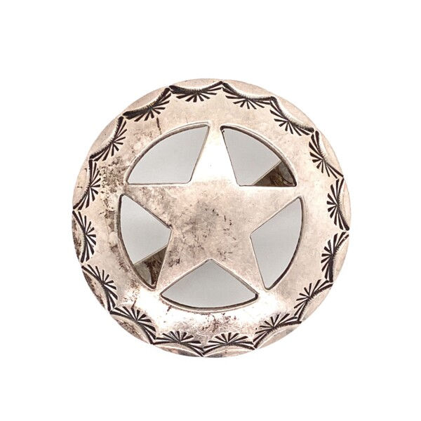Closeup photo of 9254 Sterling Cut out Star Ornament 13.8g