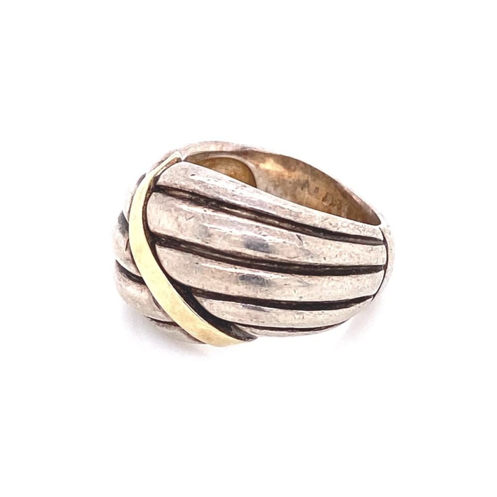 Image 2 for 14K YG & 925 Sterling 5 Row Band Ring 8.7g, s4.25