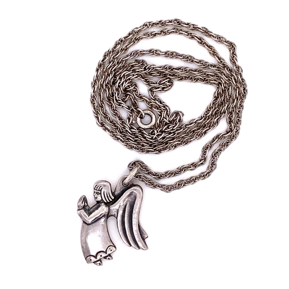 """925 Sterling James Avery Praying Angel Necklace 10.2g, 24"""""""