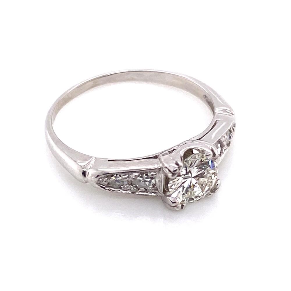 Image 2 for Platinum Art Deco .45ct OEC Diamond GIA Ring, s5.5