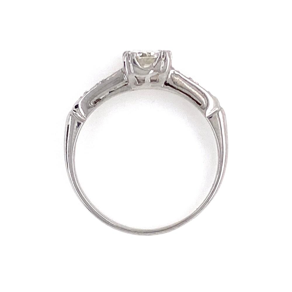 Platinum Art Deco .45ct OEC Diamond GIA Ring, s5.5