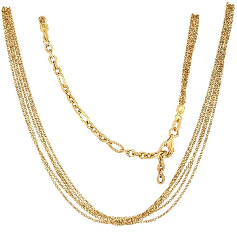 Image 2 for 18K YG Italian 5 Row Rolo Chain Lobster Clasp 7.7g, 19""
