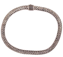 """Closeup photo of 925 Sterling Heavy Rope Necklace 170g, 18"""""""