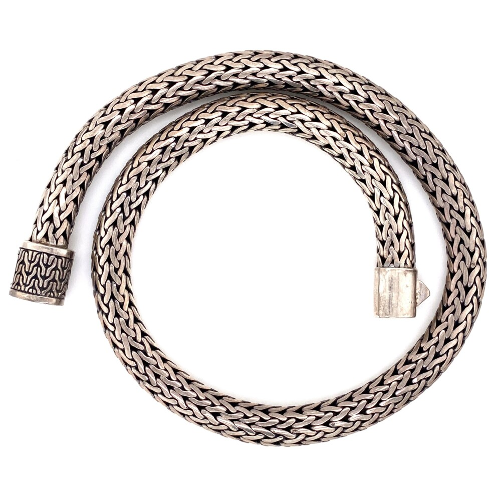Image 2 for 925 Sterling Heavy Rope Necklace 170g, 18""