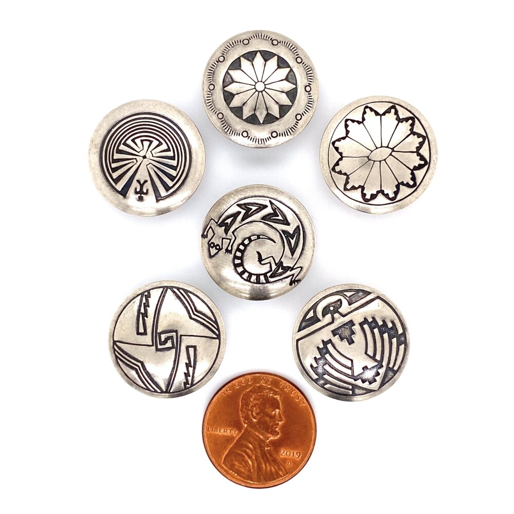 Image 2 for 925 Sterling Native 6 Button Set, 18.3g