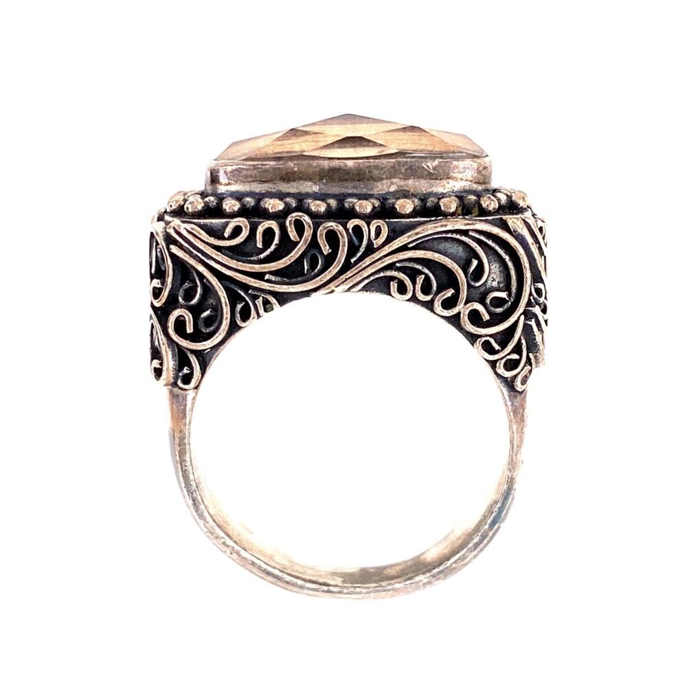 925 Sterling Lori Bonn Doublet Ring 14.8g, s7.75
