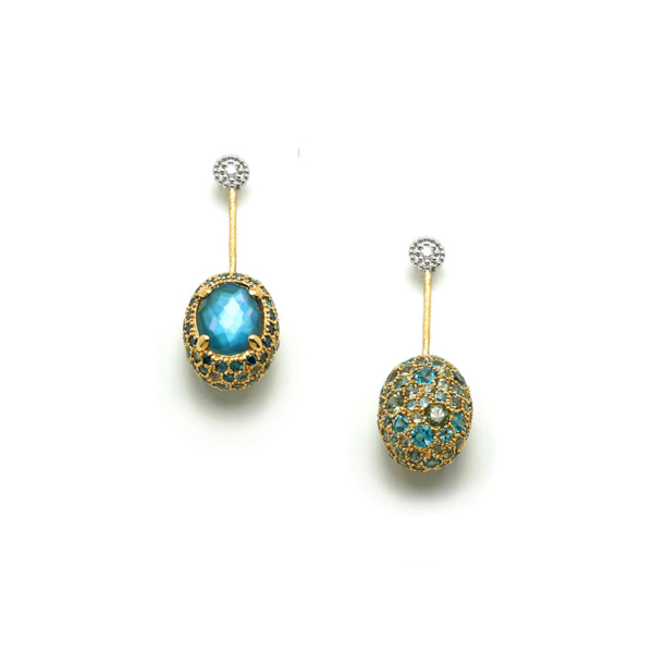 Closeup photo of Dancing In The Rain Reverso Drop Earrings