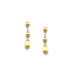 Closeup photo of Dancing In The Rain Elite 3-bead Drop Earrings