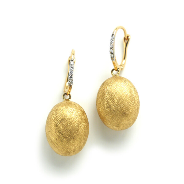 Closeup photo of Dancing In The Rain Dormeuse Drop Earrings