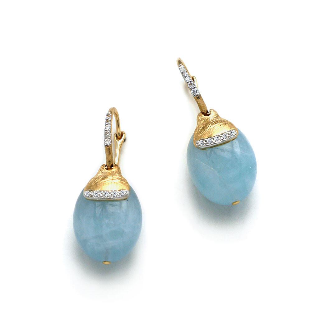 Dancing In The Rain Aquamarine Drop Earrings